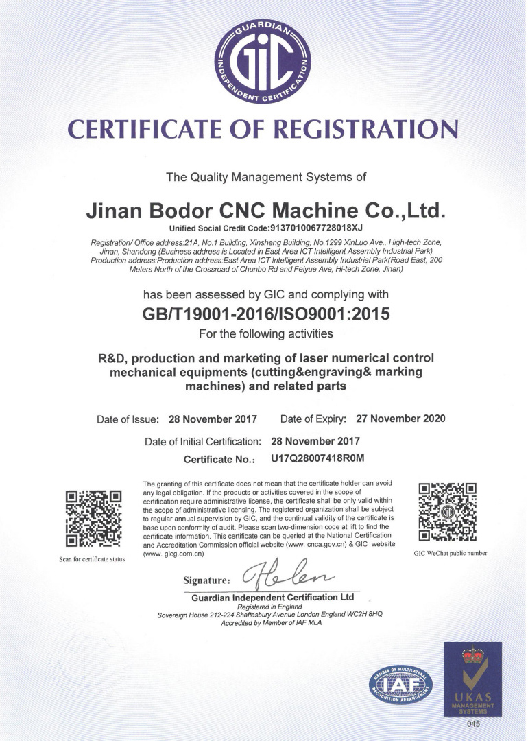GIC Certificate of Registration